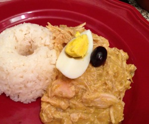 Ají de Gallina, a typical Peruvian dish, was shared at the Fulbright dinner
