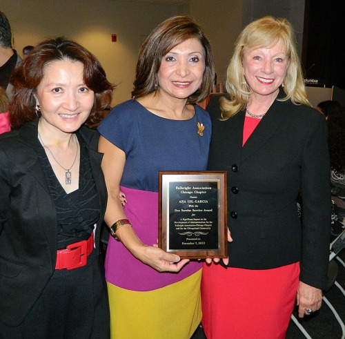 Dr. Ana Gil García with Amy Segami and Judith Yturriago