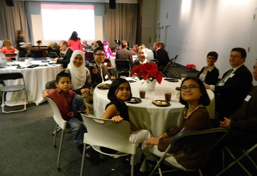 Fulbright scholars attended the event with their children