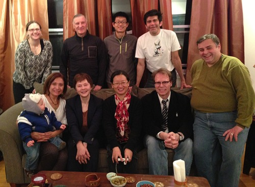Ana GIl García opened her house to receive scholars from China and Russia during a dinner on January 18