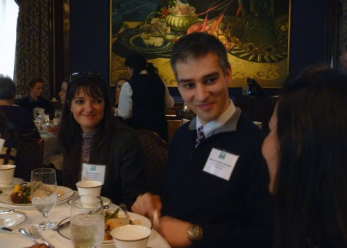 Fulbright students enjoy the luncheon during the main event