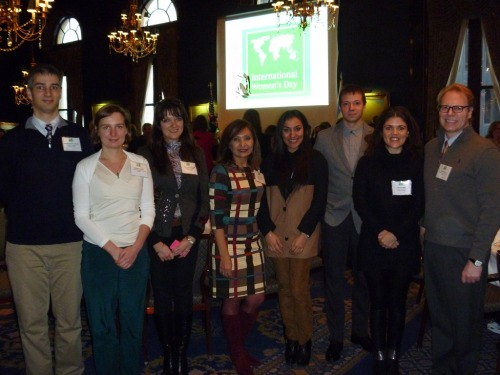 Fulbright students with board members of the Chicago Chapter of the Fulbright Association celebrated International Women's Day at the Union League Club.