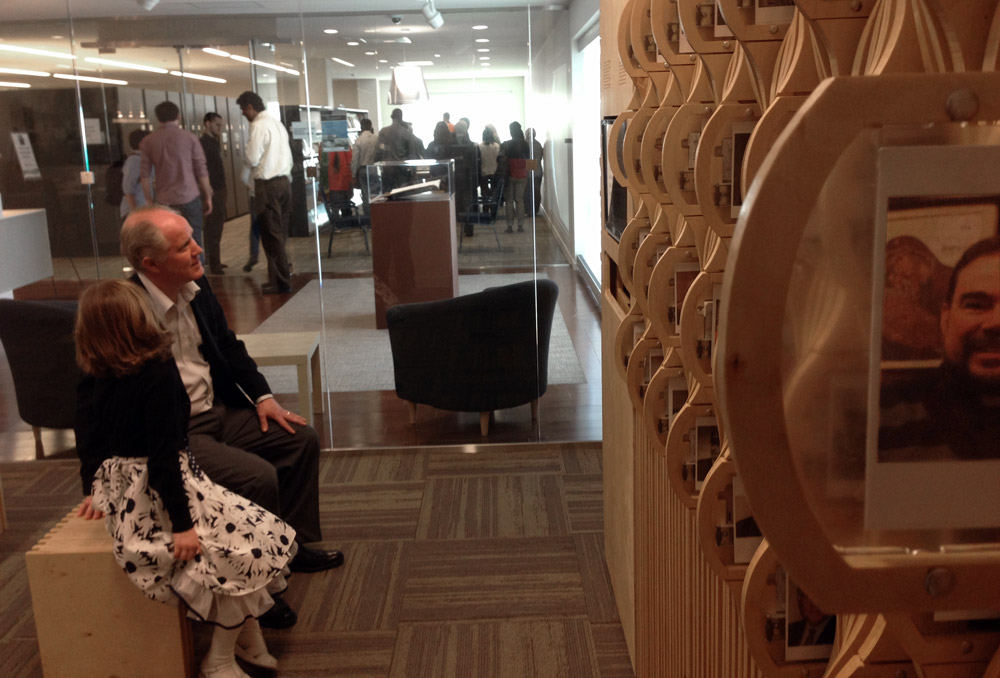 Chicago Chapter Board member Don Garner and his daughter at the Oral History archive