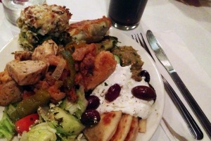 After the museum tour, a delicious Greek buffet was awaiting at The Parthenon Restaurant