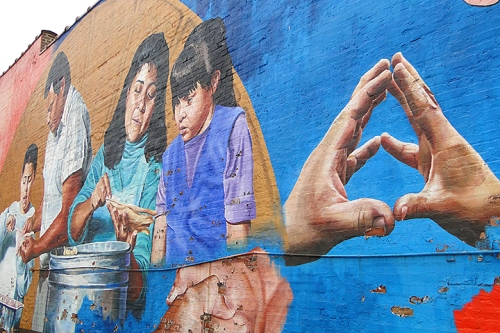 Colorful Pilsen mural. Photo by Adam Jones