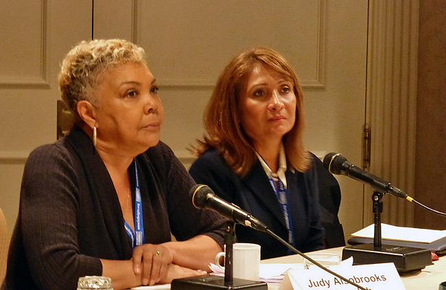 Judy Alsobrooks Meredith and Ana Gil-García presented in the Diversity panel
