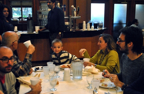 Future Fulbrighter Alexander Fris with mom Angeliki Lazaridou, a Fulbright Scholar from Greece
