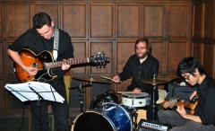 Columbia College Chicago jazz trio provided the music