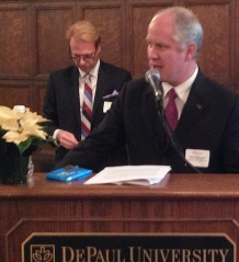 Don Garner thanks the chapter's association for the nomination.