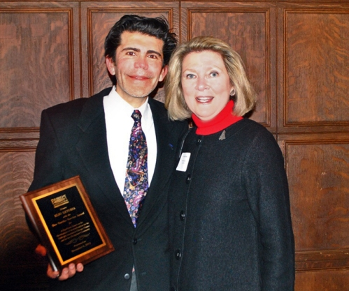 Elio Leturia and past board member Linda Gruber