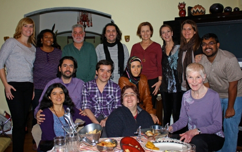 Jiménez spent his second Thanksgiving with classmates and friends at his adviser's home.