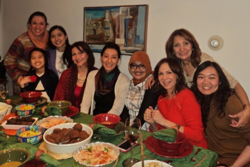 Dr. Ana Gil-García hosted a dinner with Fulbright students and friends to celebrate St. Valentine's Day