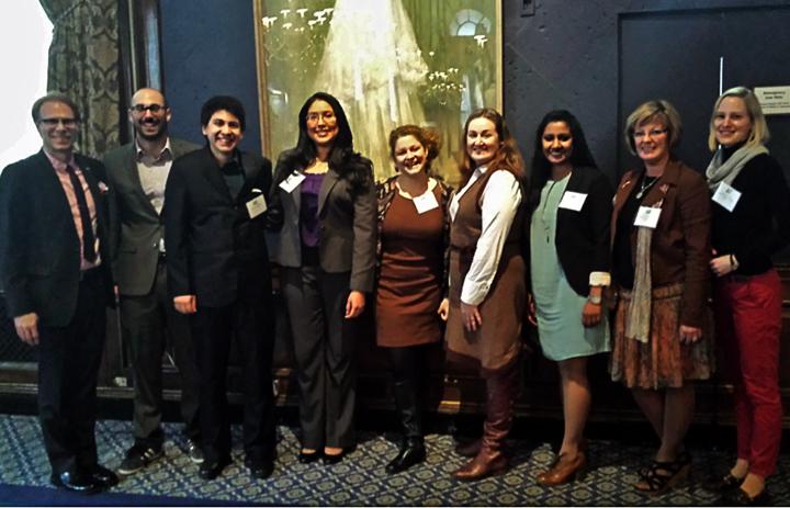 Left to right: Ronald Harvey, Ander Indart, Isaac Mejia, Flor Fernandez, Jenni Schneiderman, Meredith McNeil, Preema John, Patricia Powell, R. Schwarting