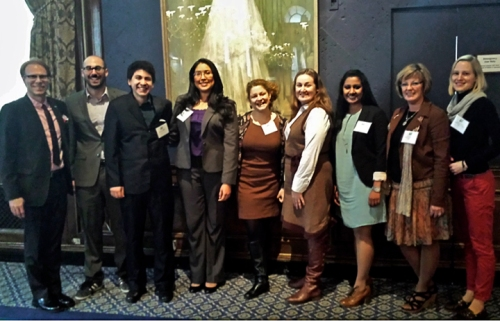 Left to right: Ronald Harvey, Ander Indart, Isaac Mejia, Flor Fernandez, Jenni Schneiderman, Meredith McNeil, Preema John, Patricia Powell, R. Schwarting