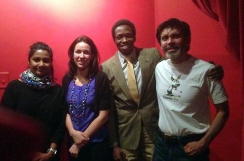 Reena John, Cristina Sisson and Roger Fassinou see the play on April 4