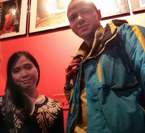 "Ly Hoang from Vietnam and Andrey Zimnyakov from Russia saw ""La Fulana Respetuosa"" on March 28."