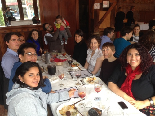 Fulbright students, scholars and alumni enjoyed a Middle-Eastern buffet at Reza's