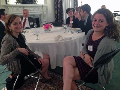 IIE Midwest director Megan Spillman and Jenni Schneiderman