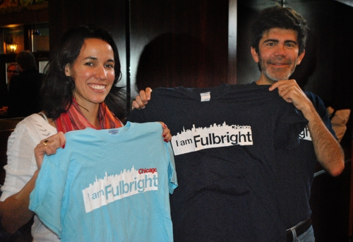 Our exclusive Fulbright Chicago t-shirts come in two distinctive colors