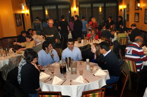 Everyone enjoyed a fun conversation and delicious food at Pompei Restaurant during the annual International Education Education Week program