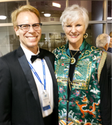 Dr. Harvey and Dr. Mary Ellen Schmider, vice president of the Board of Directors of the Fulbright Association