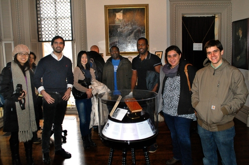 Visiting Fulbright scholaras and students celebrated International Education Week at the Jane Addams-Hull Hose Museum.