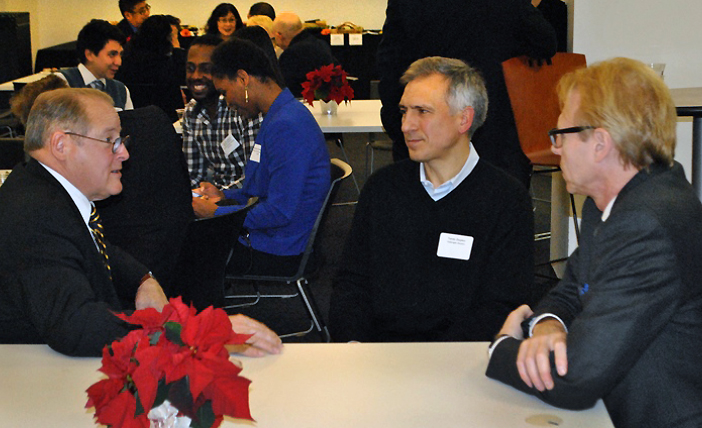 Dr. Richard Farkas of DePaul University, Fulbright Specialist to Ukraine, Taras Tzlupko and Ron Harvey