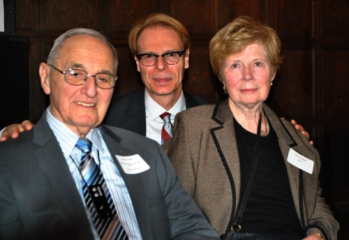 Dr. Douglas and his wife Jan at the 2013 Fulbright Chicago Holidays Reception, where Dr. Douglas received the Pioneer Award. With the, Dr. Ron Harvey.