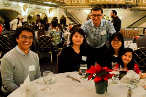 Fulbright scholars attended the 2015 Winter Holidays Reception with their families.