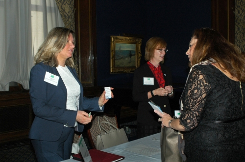Mary Mares-Awe, President of the Chicago Chapter and Dr. Sandra Martins, member of the Chicago Chapter promoted the Fulbright Association at the International Women's Day Luncheon