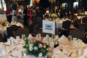 Fulbrignt table at the 2016 International Women's Day Luncheon at the Union League Club