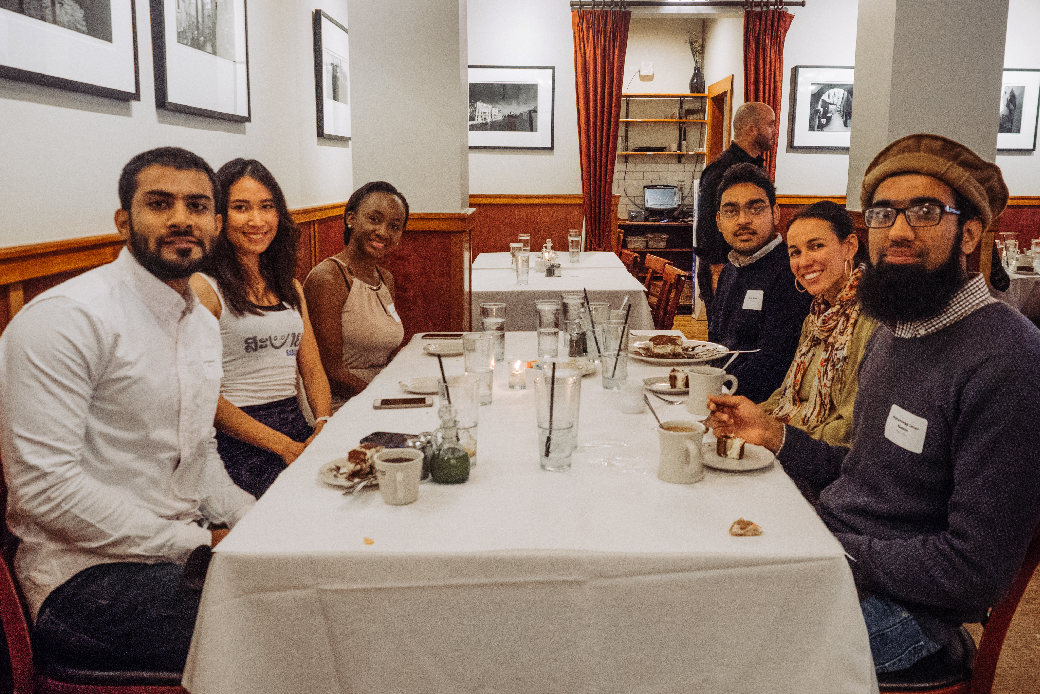 Chicago Chapter Treasurer Cristina Sisson (second on the right) with Fulbright scholars.