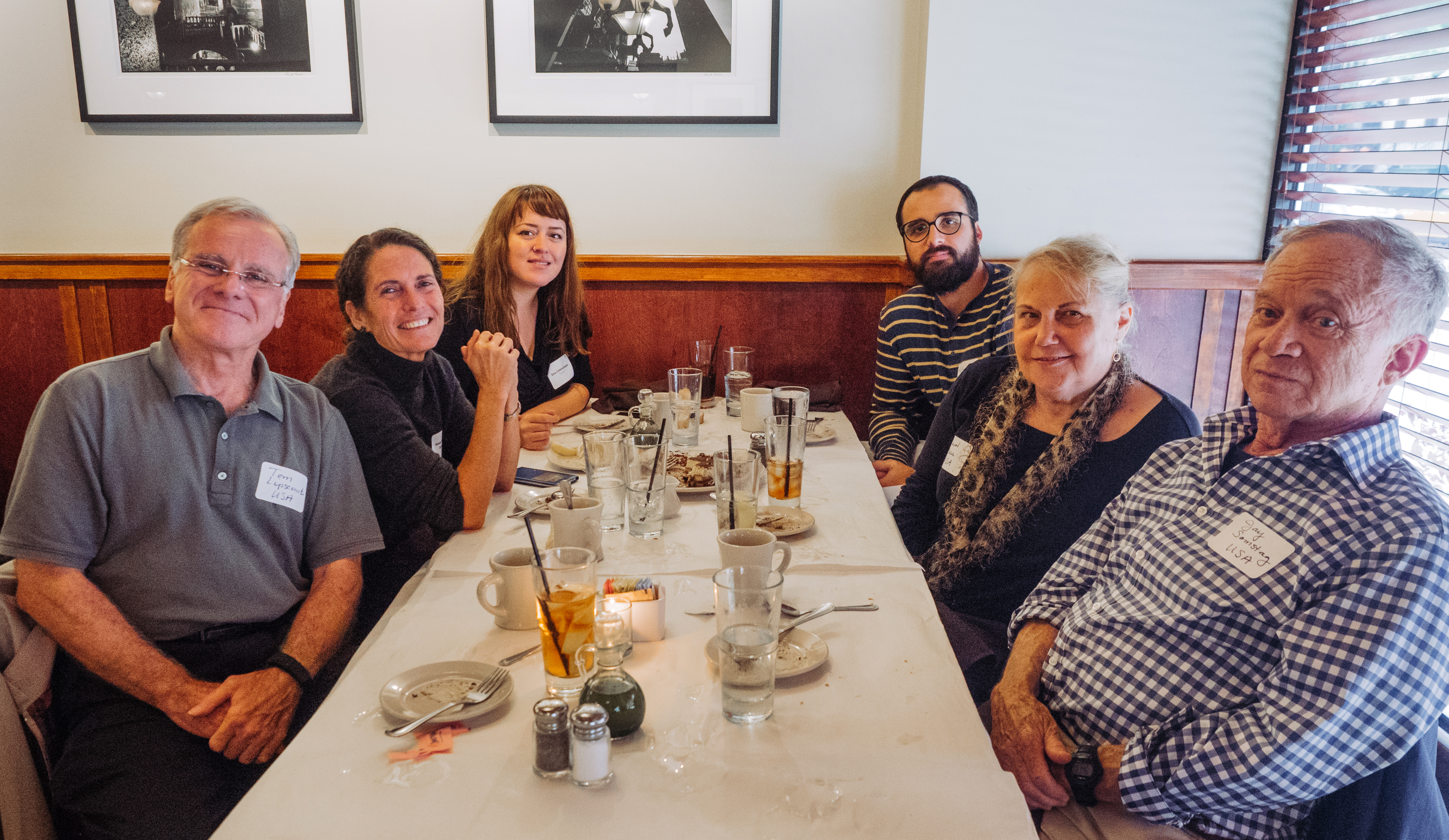 Past Chicago Chapter President Margo Rothschild (second on the left) with Fulbright scholars