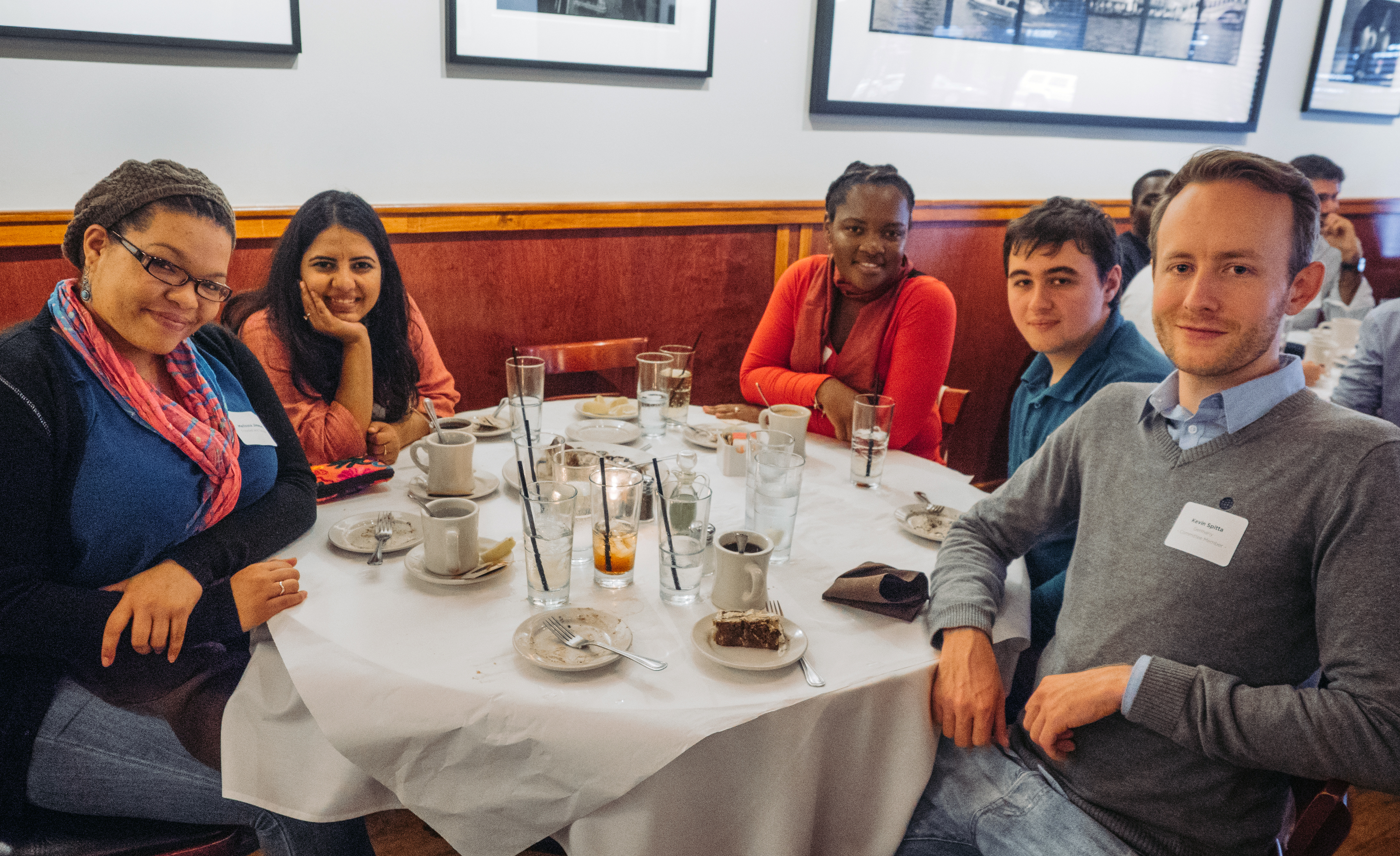 Fulbright students and scholars at Francesca's Restaurant in Little Italy. Kevin Spitta (first on the right) has joined the communications efforts for the chapter.
